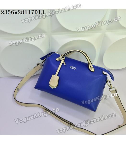 Fendi By The Way Sapphire Blue&Offwhite Leather Small Shoulder Bag 2356-4