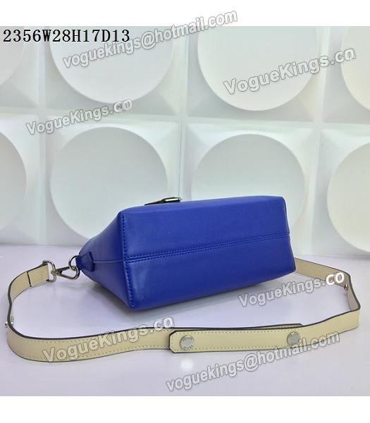 Fendi By The Way Sapphire Blue&Offwhite Leather Small Shoulder Bag 2356-5