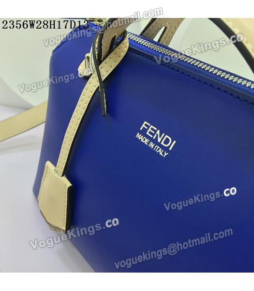Fendi By The Way Sapphire Blue&Offwhite Leather Small Shoulder Bag 2356-6