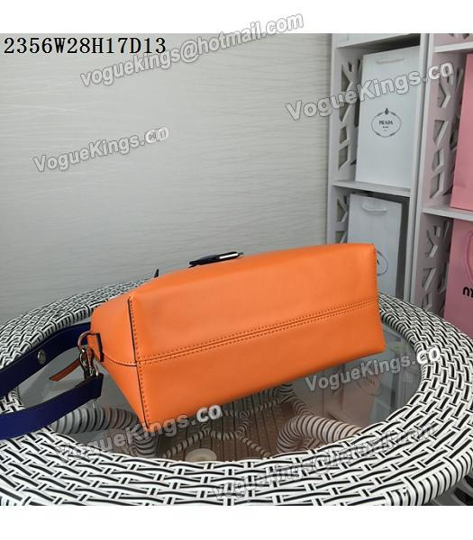 Fendi By The Way Small Shoulder Bag 2356 Orange&Sapphire Blue Leather-5