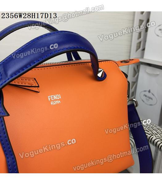 Fendi By The Way Small Shoulder Bag 2356 Orange&Sapphire Blue Leather-6