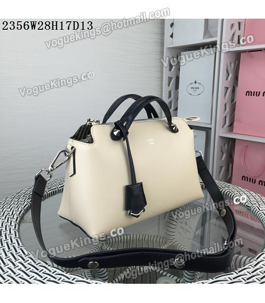 Fendi By The Way Small Shoulder Bag 2356 Apricot&Black Leather_1