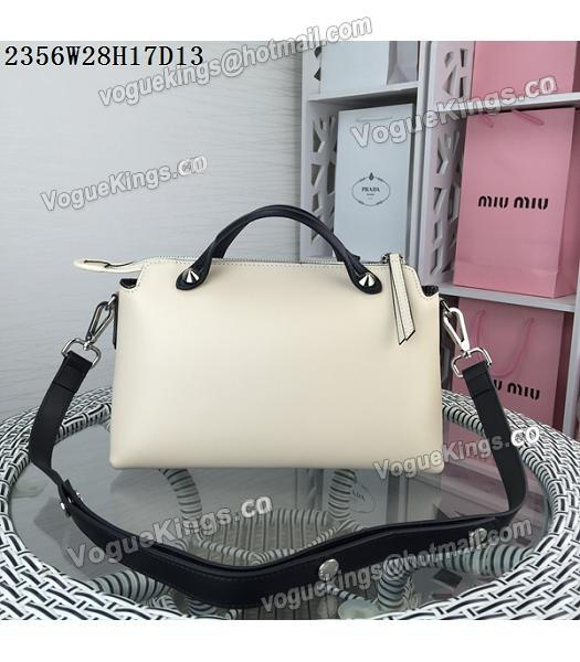 Fendi By The Way Small Shoulder Bag 2356 Apricot&Black Leather_2