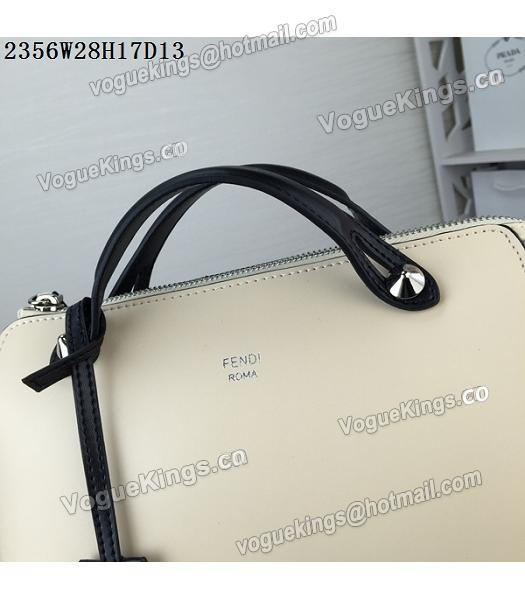 Fendi By The Way Small Shoulder Bag 2356 Apricot&Black Leather_6