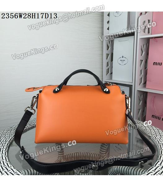 Fendi By The Way Small Shoulder Bag 2356 Orange&Black Leather_2