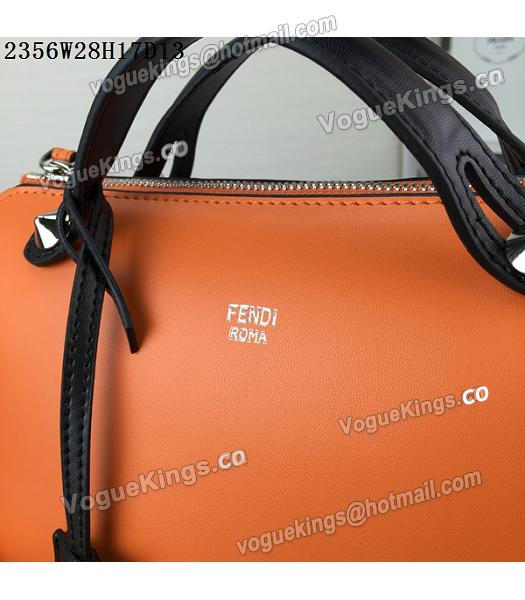 Fendi By The Way Small Shoulder Bag 2356 Orange&Black Leather_6
