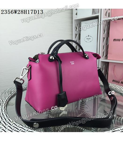 Fendi By The Way Rose Red&Black Leather Small Shoulder Bag 2356_1