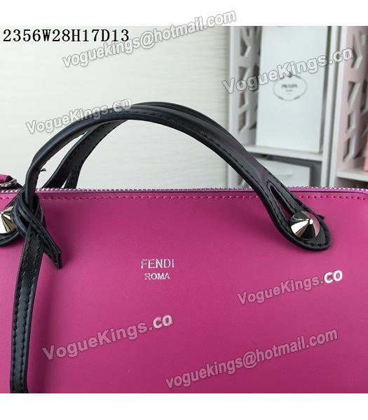 Fendi By The Way Rose Red&Black Leather Small Shoulder Bag 2356_6