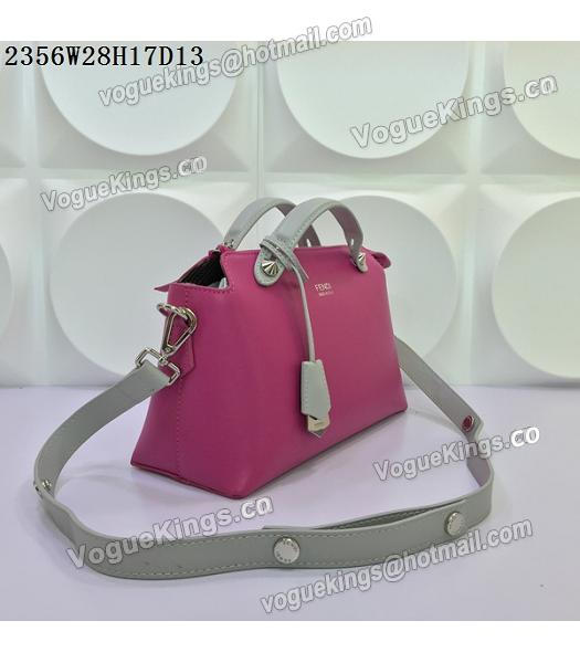 Fendi By The Way Rose Red&Grey Leather Small Shoulder Bag 2356-1