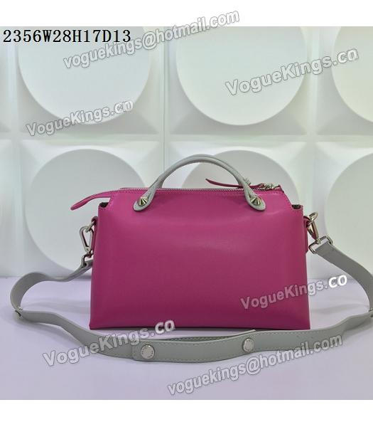 Fendi By The Way Rose Red&Grey Leather Small Shoulder Bag 2356-2