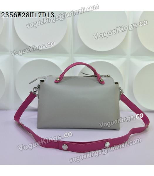 Fendi By The Way Small Shoulder Bag 2356 Grey&Rose Red Leather-2