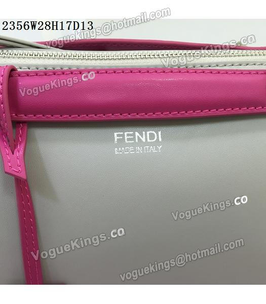Fendi By The Way Small Shoulder Bag 2356 Grey&Rose Red Leather-6