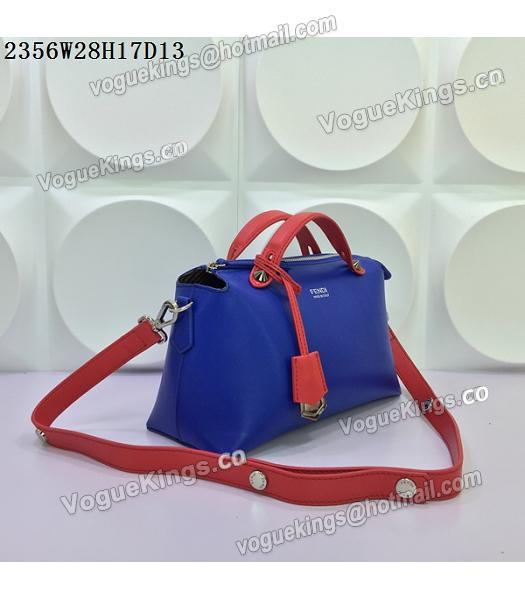 Fendi By The Way Sapphire Blue&Red Leather Small Shoulder Bag 2356-1