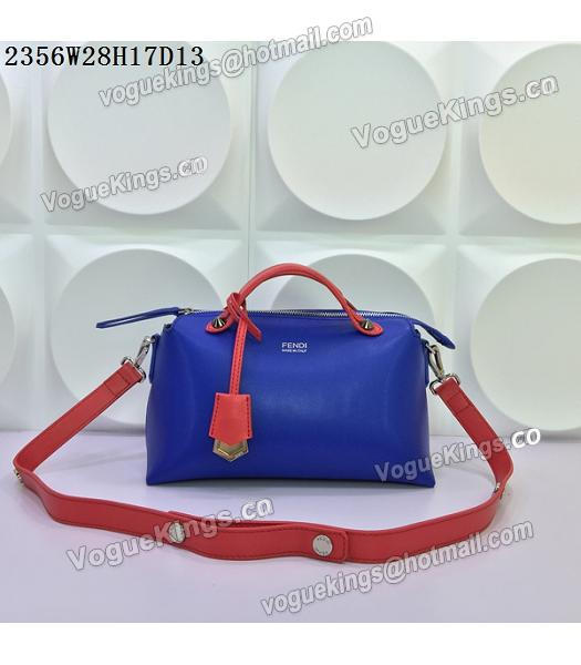Fendi By The Way Sapphire Blue&Red Leather Small Shoulder Bag 2356-2