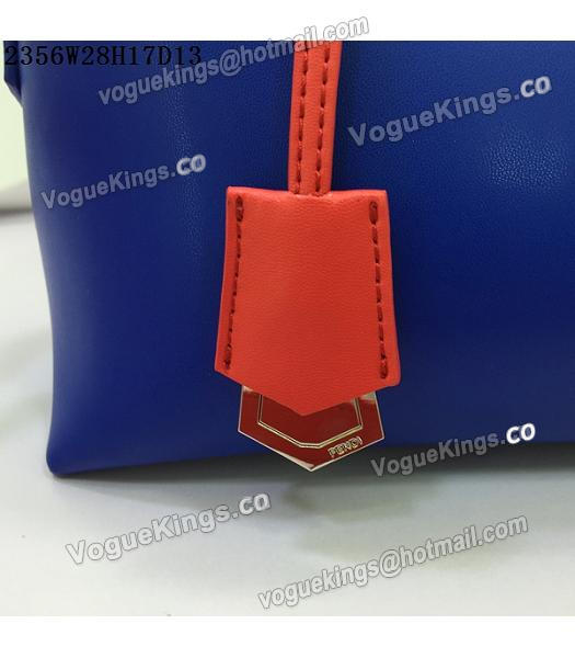 Fendi By The Way Sapphire Blue&Red Leather Small Shoulder Bag 2356-5