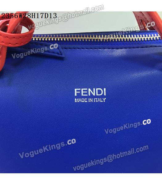 Fendi By The Way Sapphire Blue&Red Leather Small Shoulder Bag 2356-6