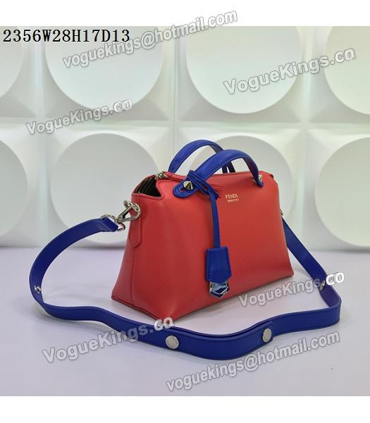 Fendi By The Way Small Shoulder Bag 2356 Red&Sapphire Blue Leather-1