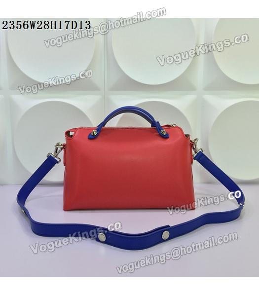Fendi By The Way Small Shoulder Bag 2356 Red&Sapphire Blue Leather-2