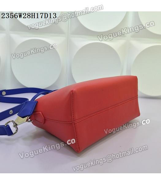 Fendi By The Way Small Shoulder Bag 2356 Red&Sapphire Blue Leather-5