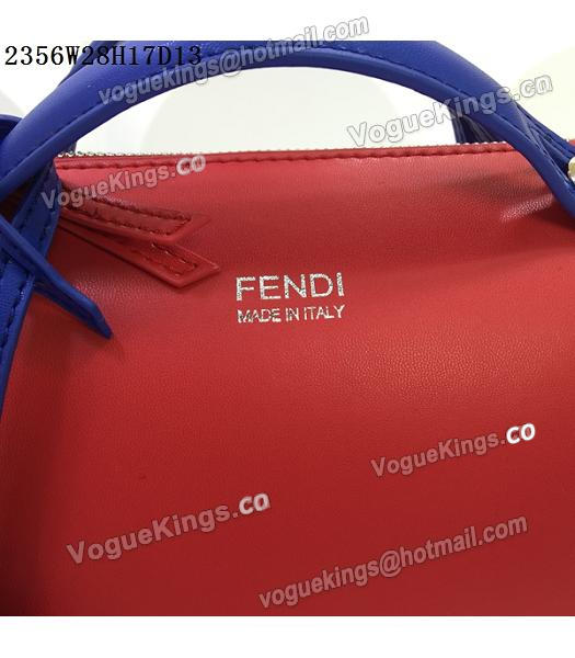 Fendi By The Way Small Shoulder Bag 2356 Red&Sapphire Blue Leather-6