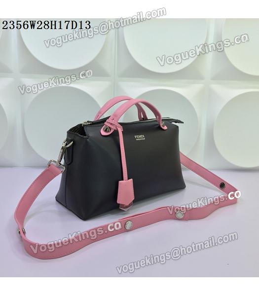 Fendi By The Way Small Shoulder Bag 2356 Black&Pink Leather-1