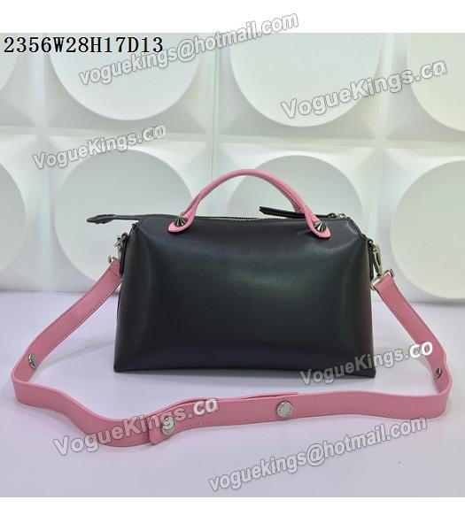 Fendi By The Way Small Shoulder Bag 2356 Black&Pink Leather-2