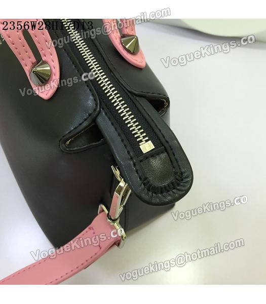 Fendi By The Way Small Shoulder Bag 2356 Black&Pink Leather-3