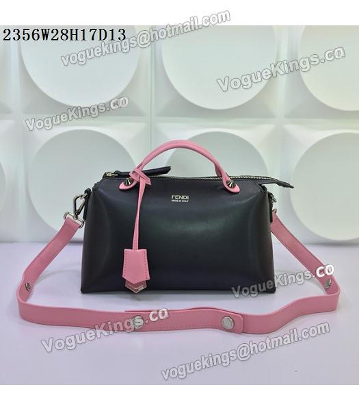 Fendi By The Way Small Shoulder Bag 2356 Black&Pink Leather-4