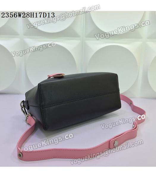 Fendi By The Way Small Shoulder Bag 2356 Black&Pink Leather-5