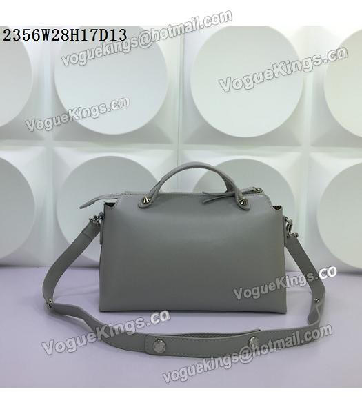 Fendi By The Way Small Shoulder Bag 2356 Grey Leather-2