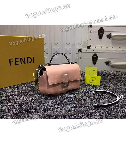 Fendi Mirco Double Baguette Black&Pink Leather Shoulder Bag-4