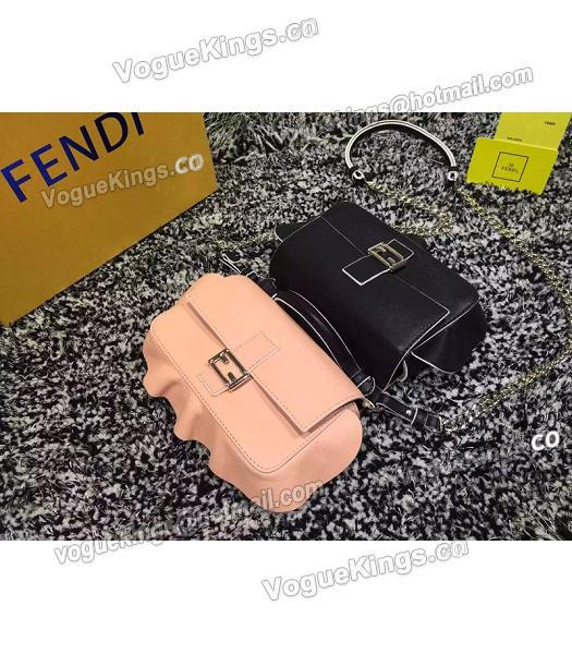 Fendi Mirco Double Baguette Black&Pink Leather Shoulder Bag-6
