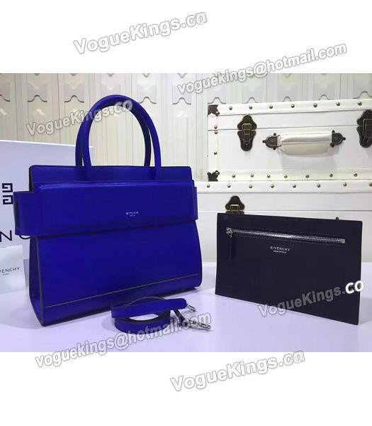 Givenchy Horizon 28cm Blue Leather Top Handle Bag-1