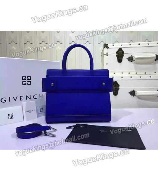 Givenchy Horizon 28cm Blue Leather Top Handle Bag-2