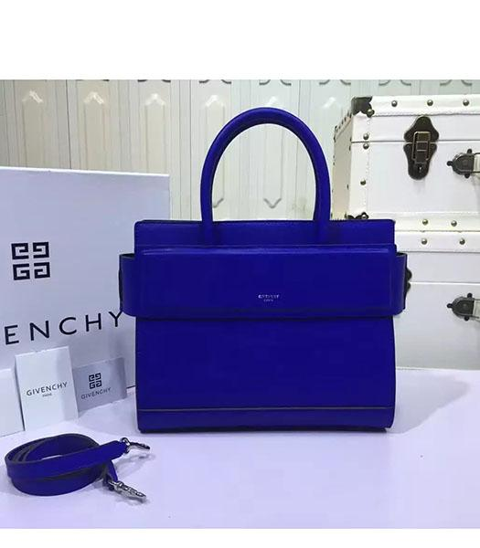 Givenchy Horizon 28cm Blue Leather Top Handle Bag