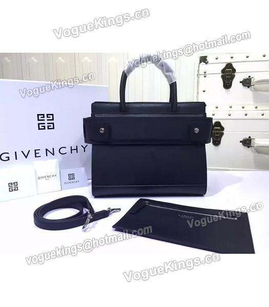 Givenchy Horizon 28cm Black Leather Top Handle Bag-2