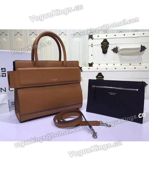 Givenchy Horizon 28cm Coffee Leather Top Handle Bag-1
