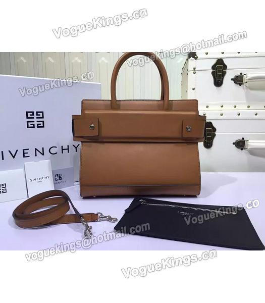 Givenchy Horizon 28cm Coffee Leather Top Handle Bag-2