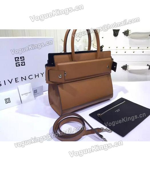 Givenchy Horizon 28cm Coffee Leather Top Handle Bag-3