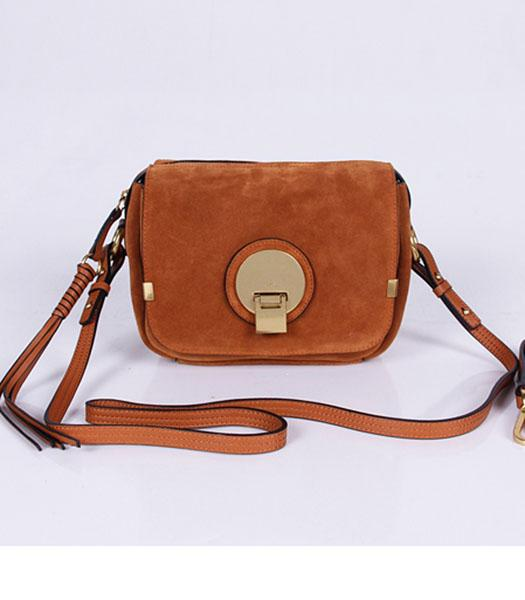 Chloe New Style Earth Yellow Suede Leather Small Shoulder Bag