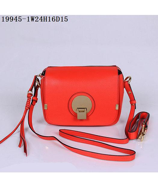 Chloe New Style Red Leather Small Shoulder Bag
