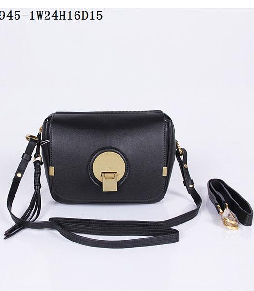 Chloe New Style Black Leather Small Shoulder Bag