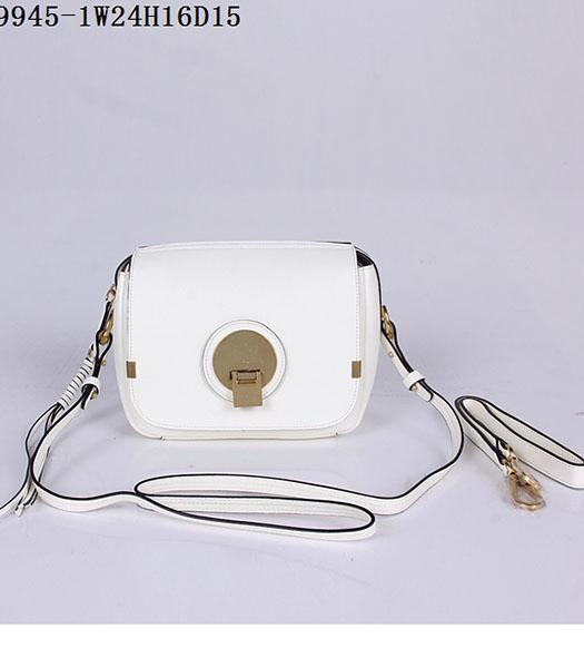 Chloe New Style White Leather Small Shoulder Bag