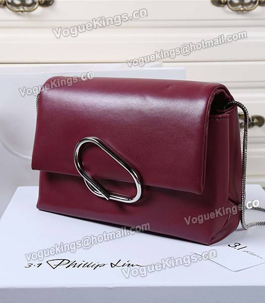 Phillip Lim Wine Red Leather Small Alix Flap Bag_1