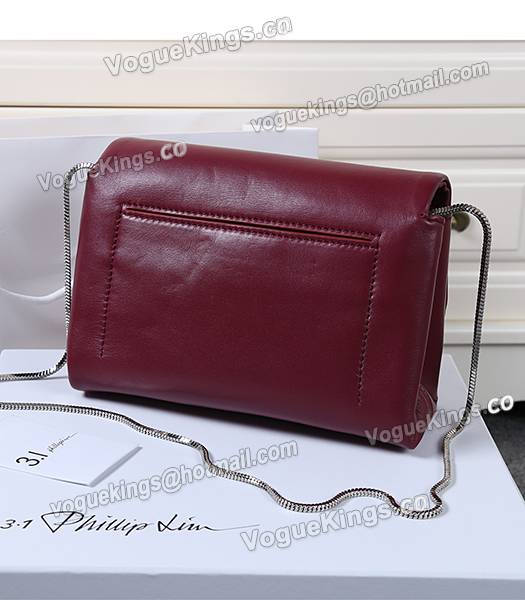Phillip Lim Wine Red Leather Small Alix Flap Bag_2