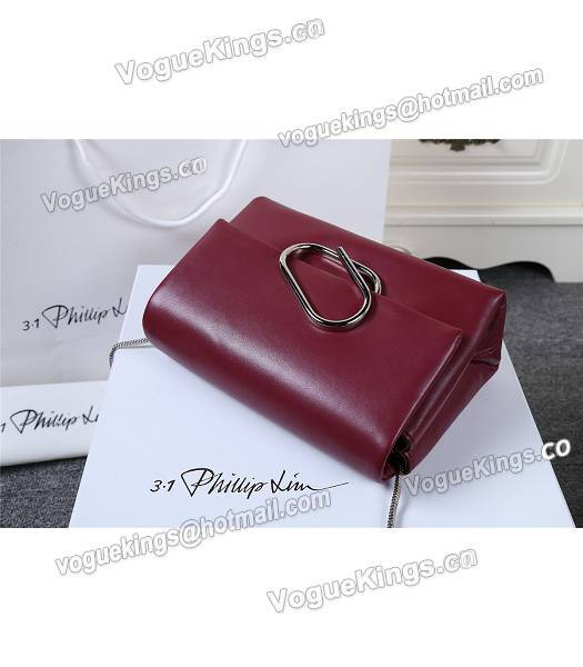 Phillip Lim Wine Red Leather Small Alix Flap Bag-4
