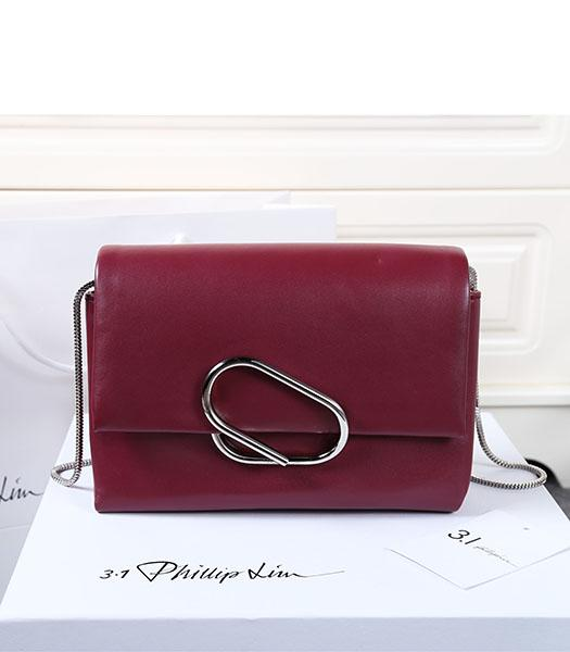 Phillip Lim Wine Red Leather Small Alix Flap Bag