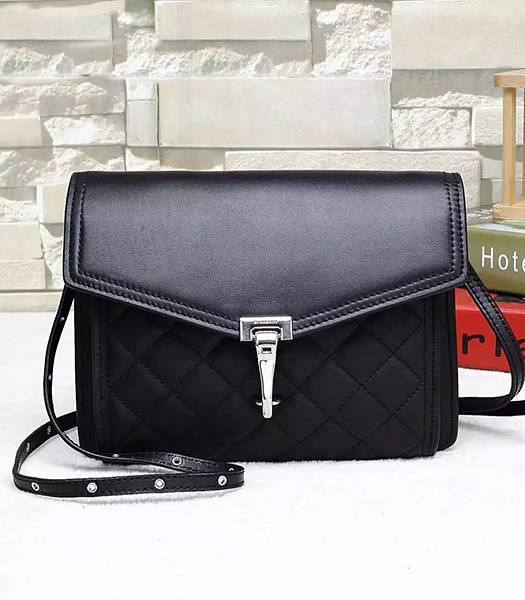 Burberry Original Calfskin Leather Quilted Shoulder Bag Black