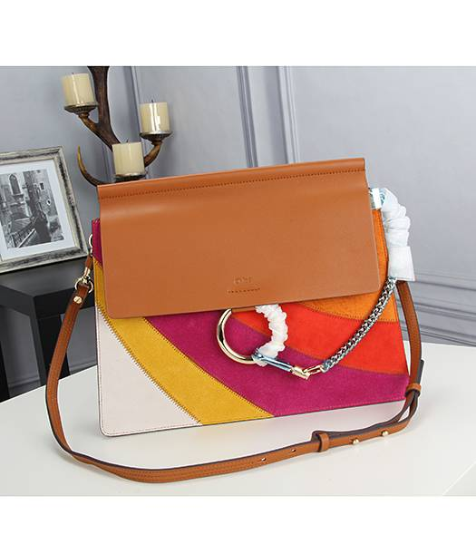 Chloe New Style Colorful Leather Shoulder Bag Light Coffee