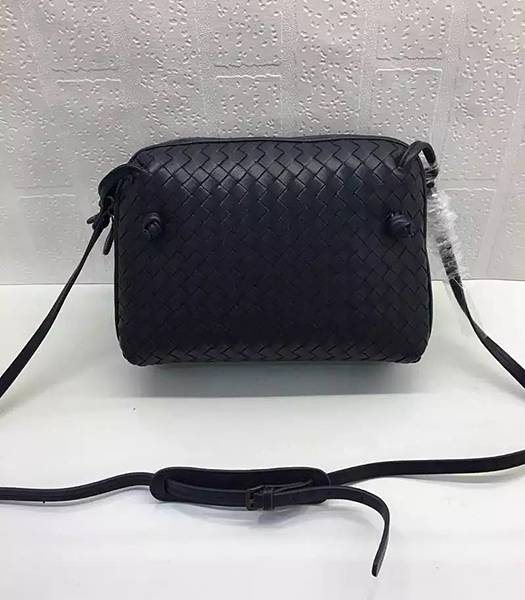 Bottega Veneta Dark Blue Leather Small Woven Bag